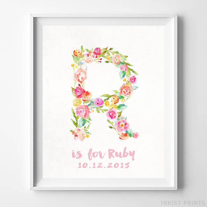 Initial 'R' Personalized Print - Inkist Prints