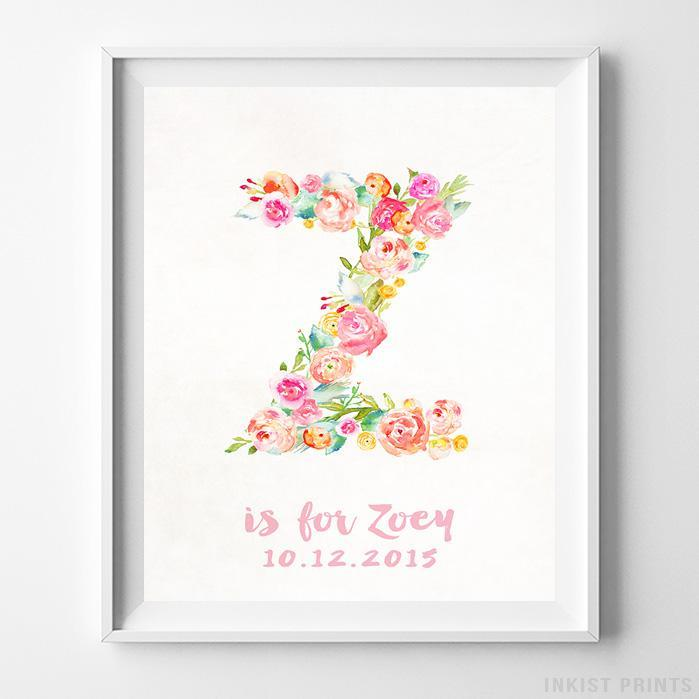 Initial 'Z' Personalized Print-Poster-Wall_Art-Home_Decor-Inkist_Prints
