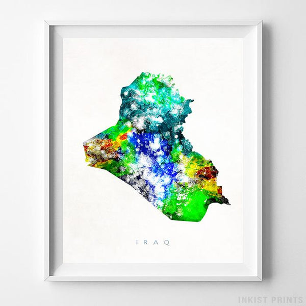 Iraq Watercolor Map Print-Poster-Wall_Art-Home_Decor-Inkist_Prints