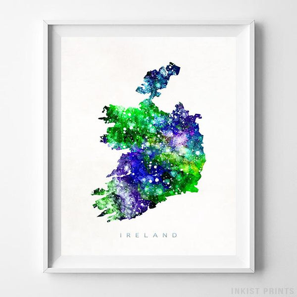Ireland Watercolor Map Print-Poster-Wall_Art-Home_Decor-Inkist_Prints