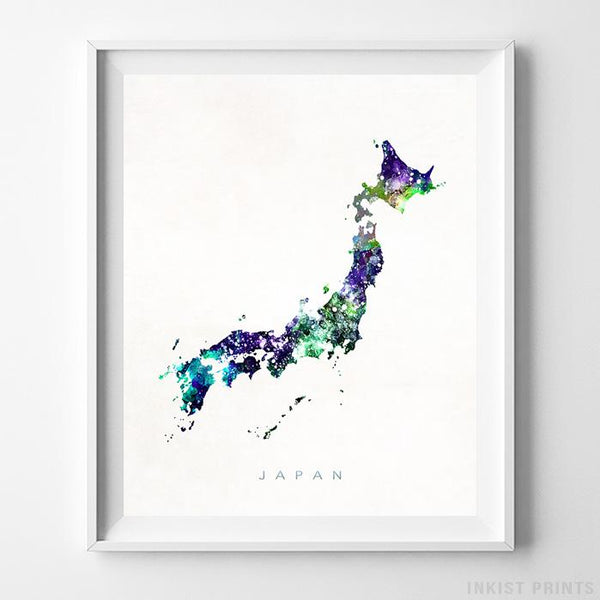 Japan Watercolor Map Print-Poster-Wall_Art-Home_Decor-Inkist_Prints