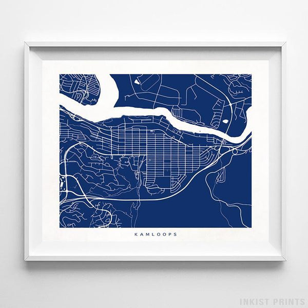 Kamloops, Canada Street Map Horizontal Print-Poster-Wall_Art-Home_Decor-Inkist_Prints