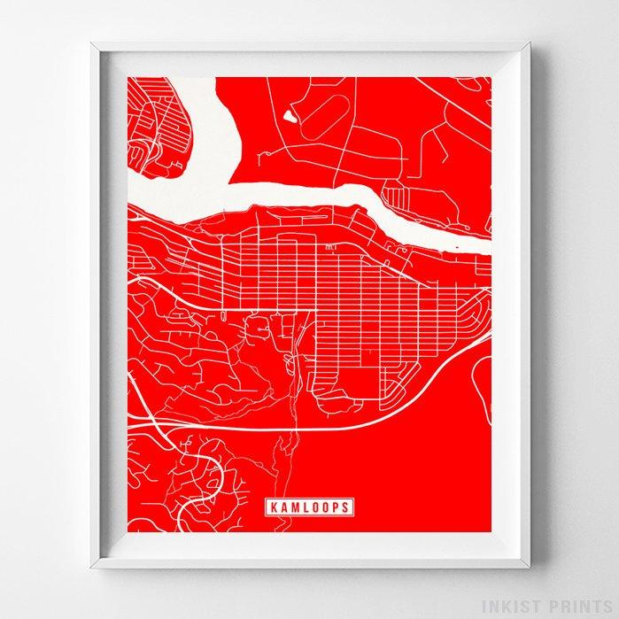 Kamloops, Canada Street Map Vertical Print-Poster-Wall_Art-Home_Decor-Inkist_Prints