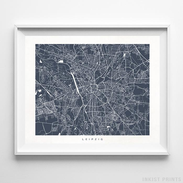 Leipzig, Germany Street Map Horizontal Print-Poster-Wall_Art-Home_Decor-Inkist_Prints