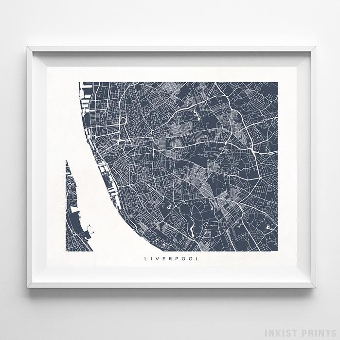 Liverpool, England Street Map Horizontal Print-Poster-Wall_Art-Home_Decor-Inkist_Prints