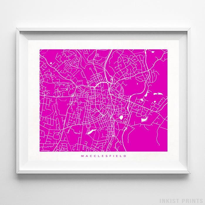 Macclesfield, England Street Map Horizontal Print-Poster-Wall_Art-Home_Decor-Inkist_Prints