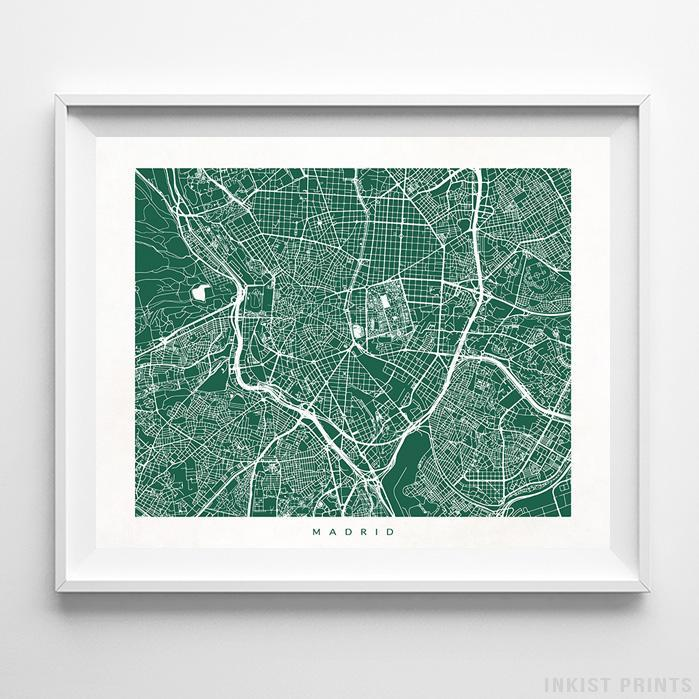 Madrid, Spain Street Map Print - Inkist Prints