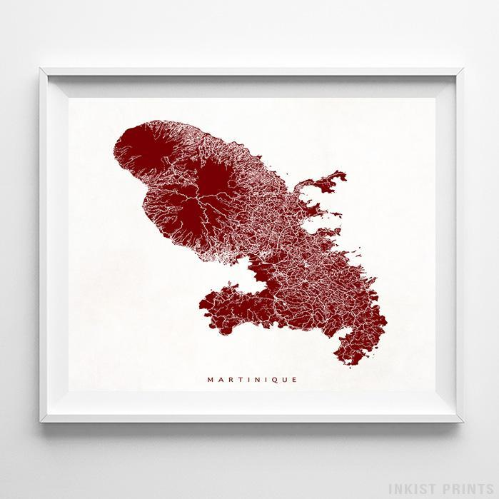 Martinique, France Street Map Print - Inkist Prints
