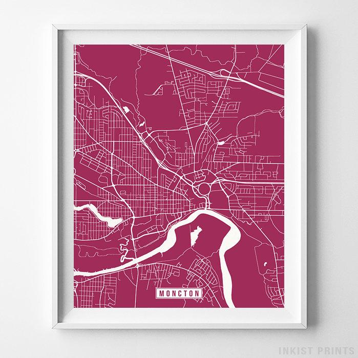 Moncton, Canada Street Map Vertical Print-Poster-Wall_Art-Home_Decor-Inkist_Prints