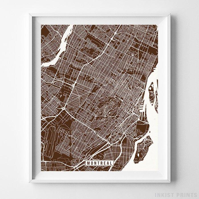 Montreal, Canada Street Map Vertical Print-Poster-Wall_Art-Home_Decor-Inkist_Prints