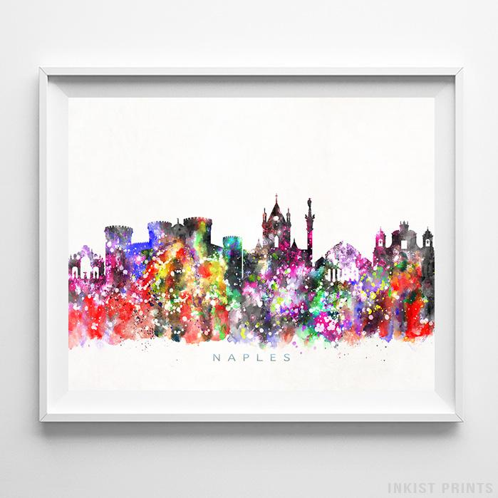 Naples, Italy Watercolor Print-Poster-Wall_Art-Home_Decor-Inkist_Prints