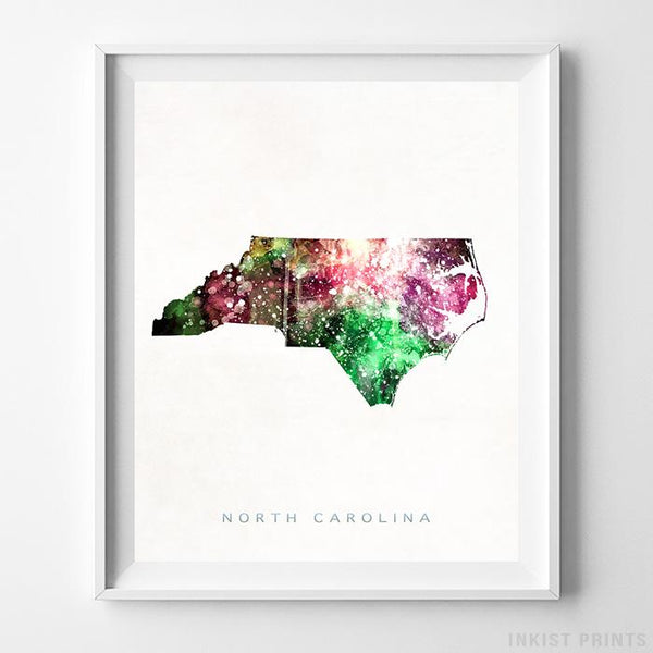North Carolina Watercolor Map Print-Poster-Wall_Art-Home_Decor-Inkist_Prints