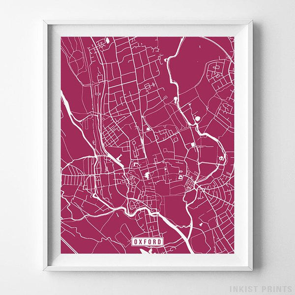 Oxford, England Street Map Vertical Print-Poster-Wall_Art-Home_Decor-Inkist_Prints