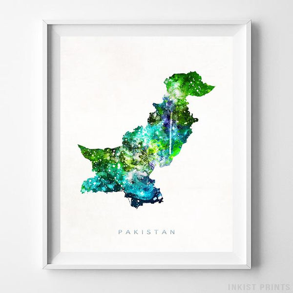 Pakistan Watercolor Map Print-Poster-Wall_Art-Home_Decor-Inkist_Prints
