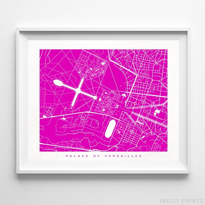 Palace of Versailles, France Street Map Print - Inkist Prints