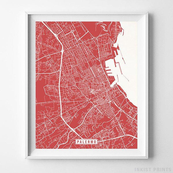 Palermo, Italy Street Map Vertical Print-Poster-Wall_Art-Home_Decor-Inkist_Prints