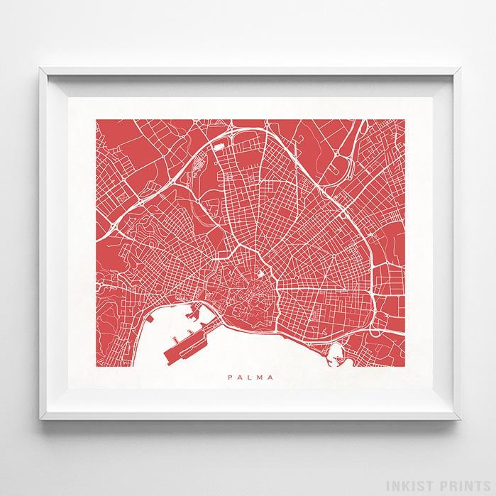 Palma, Spain Street Map Horizontal Print-Poster-Wall_Art-Home_Decor-Inkist_Prints