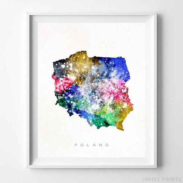 Poland Watercolor Map Print-Poster-Wall_Art-Home_Decor-Inkist_Prints
