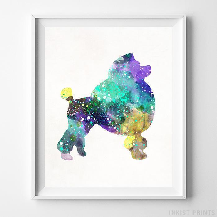 Poodle Print Wall Art Poster by Inkist Prints