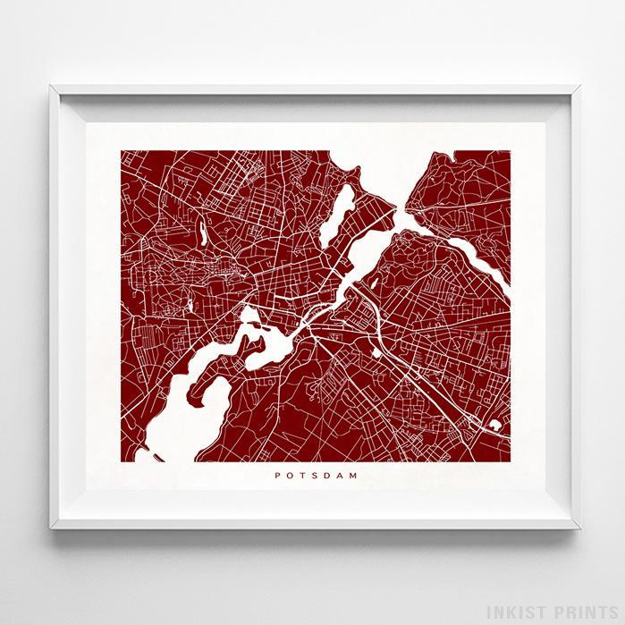 Potsdam, Germany Street Map Horizontal Print-Poster-Wall_Art-Home_Decor-Inkist_Prints