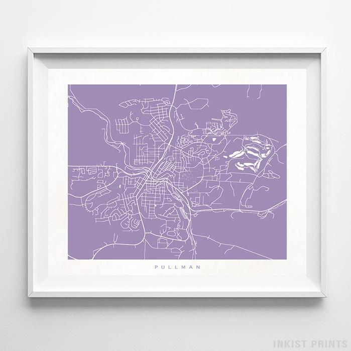 Pullman, Washington Street Map Horizontal Print-Poster-Wall_Art-Home_Decor-Inkist_Prints
