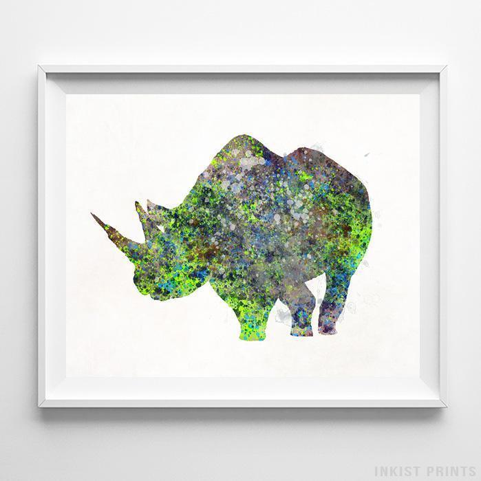 Rhino Print-Poster-Wall_Art-Home_Decor-Inkist_Prints
