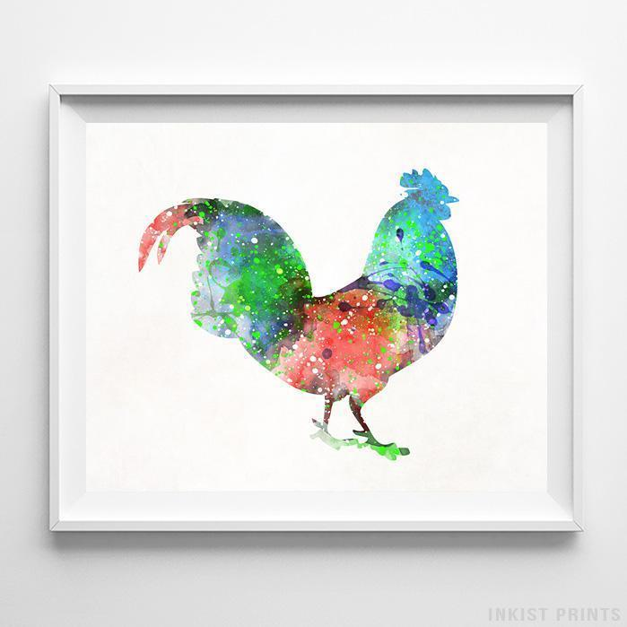 Rooster Print-Poster-Wall_Art-Home_Decor-Inkist_Prints
