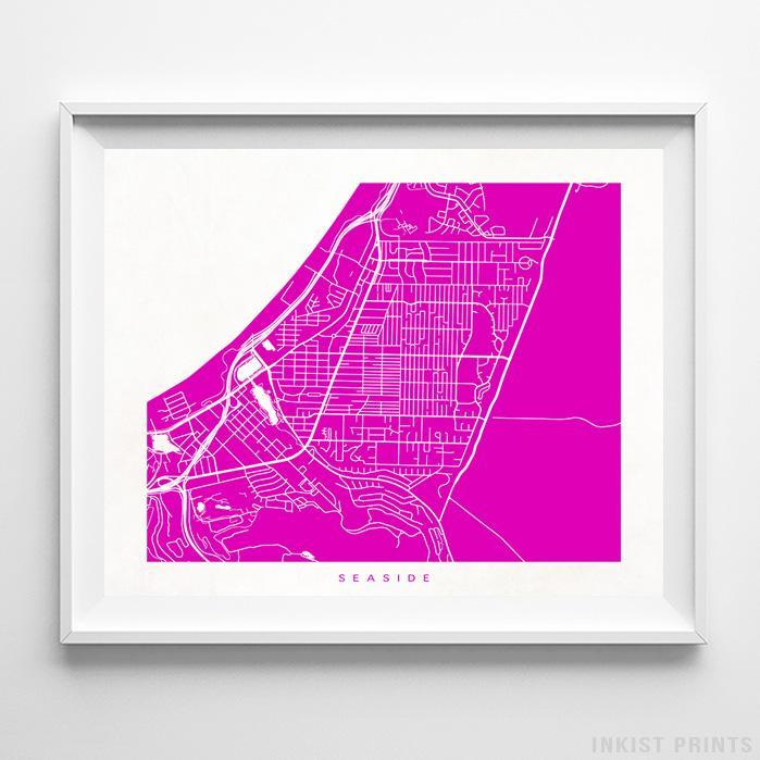 Seaside, California Street Map Horizontal Print-Poster-Wall_Art-Home_Decor-Inkist_Prints