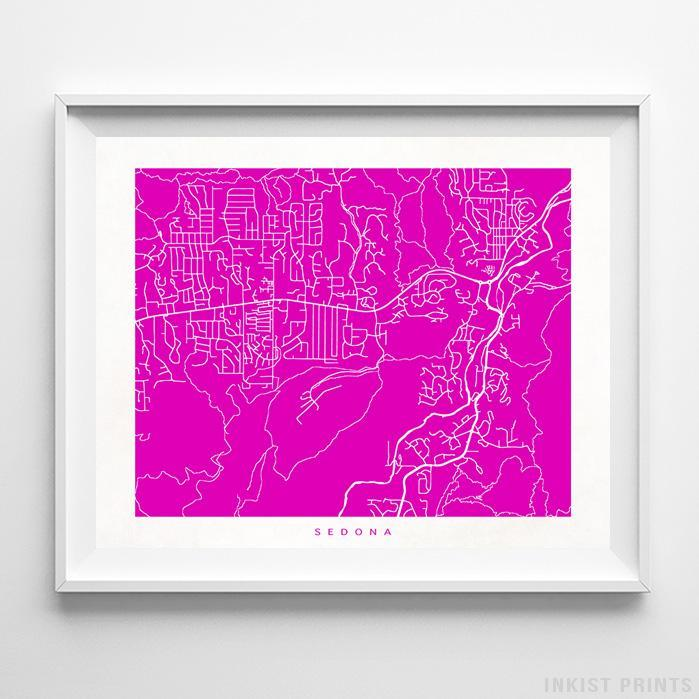 Sedona, Arizona Street Map Print - Inkist Prints