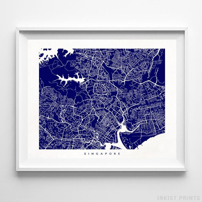 Singapore Street Map Horizontal Print-Poster-Wall_Art-Home_Decor-Inkist_Prints