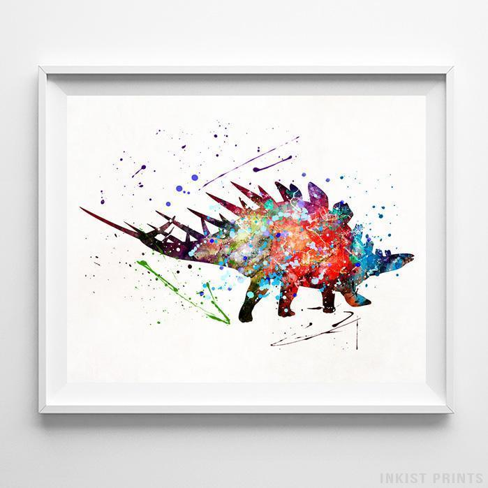 Stegosaurus Dinosaur Print-Poster-Wall_Art-Home_Decor-Inkist_Prints