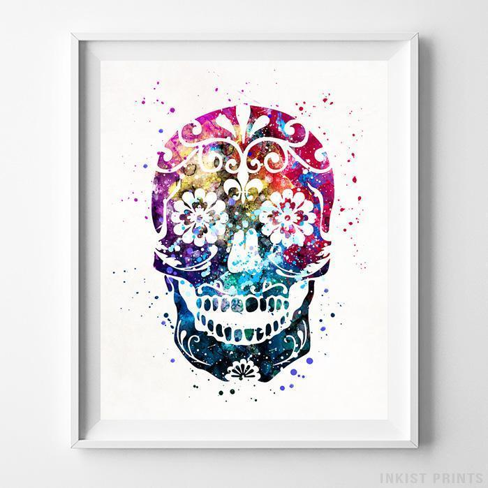 Sugar Skull Type 1 Print-Poster-Wall_Art-Home_Decor-Inkist_Prints
