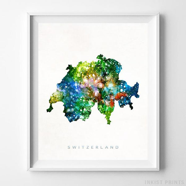 Switzerland Watercolor Map Print-Poster-Wall_Art-Home_Decor-Inkist_Prints