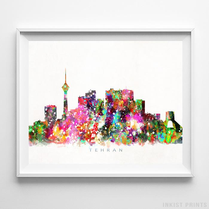 Tehran, Iran Skyline Watercolor Print-Poster-Wall_Art-Home_Decor-Inkist_Prints