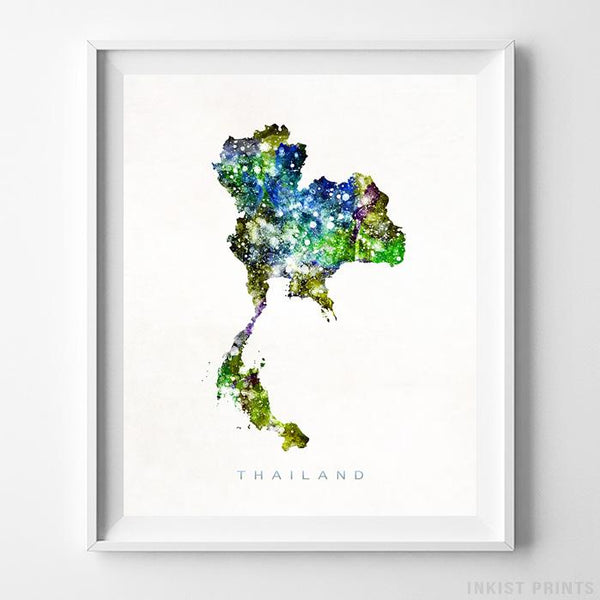 Thailand Watercolor Map Print-Poster-Wall_Art-Home_Decor-Inkist_Prints