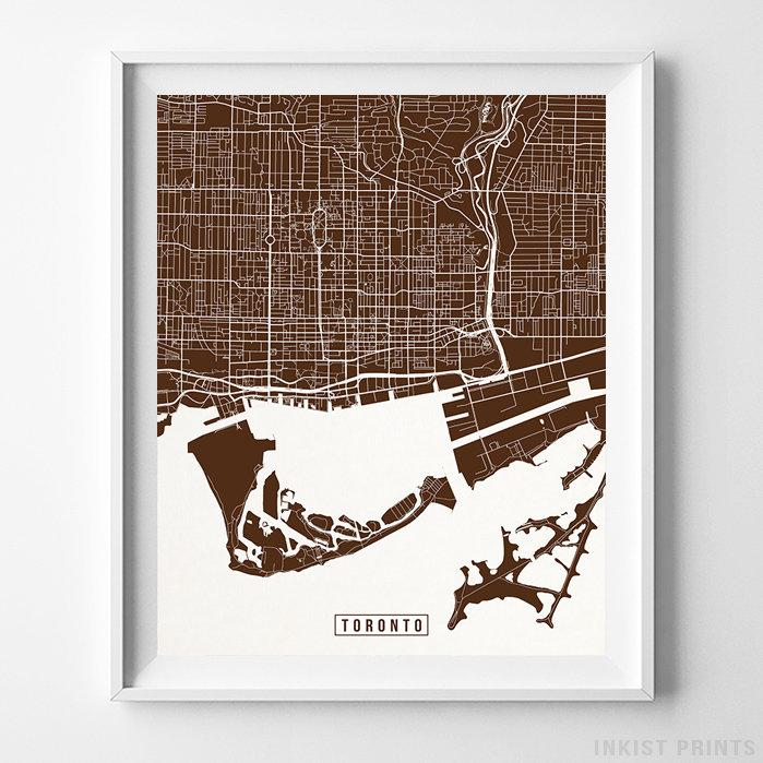 Toronto, Canada Street Map Vertical Print-Poster-Wall_Art-Home_Decor-Inkist_Prints
