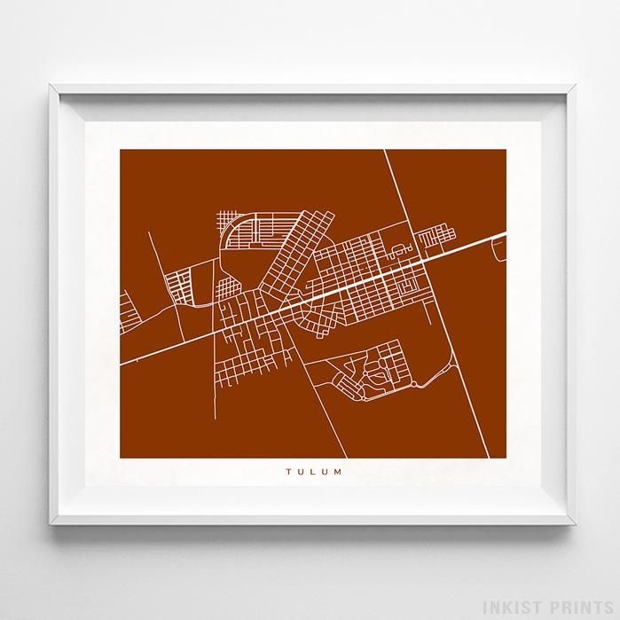 Tulum, Mexico Street Map Horizontal Print-Poster-Wall_Art-Home_Decor-Inkist_Prints