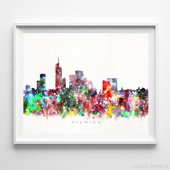 Vilnius, Lithuania Watercolor Print-Poster-Wall_Art-Home_Decor-Inkist_Prints