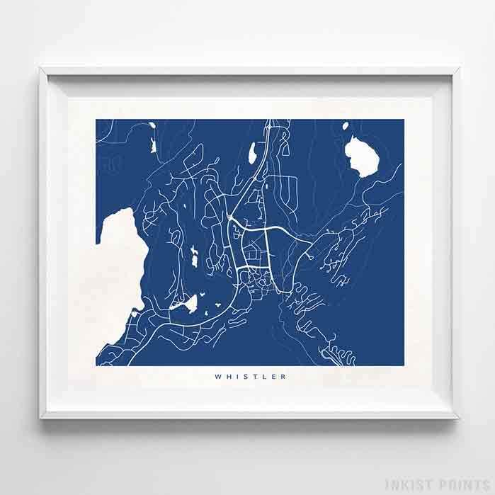Whistler, Canada Street Map Horizontal Print-Poster-Wall_Art-Home_Decor-Inkist_Prints