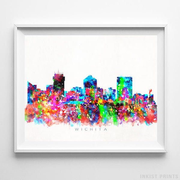 Wichita, Kansas Skyline Watercolor Print-Poster-Wall_Art-Home_Decor-Inkist_Prints