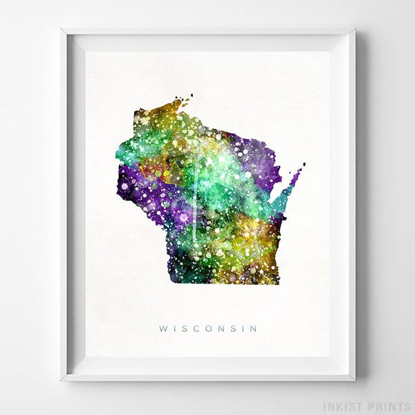Wisconsin Watercolor Map Print-Poster-Wall_Art-Home_Decor-Inkist_Prints