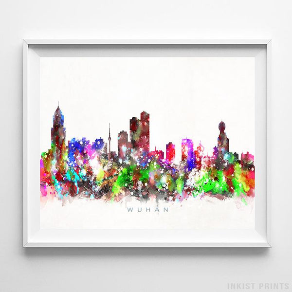 Wuhan, China Skyline Watercolor Print-Poster-Wall_Art-Home_Decor-Inkist_Prints