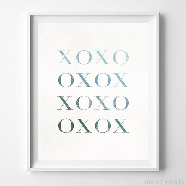 XOXO Typography Print-Poster-Wall_Art-Home_Decor-Inkist_Prints