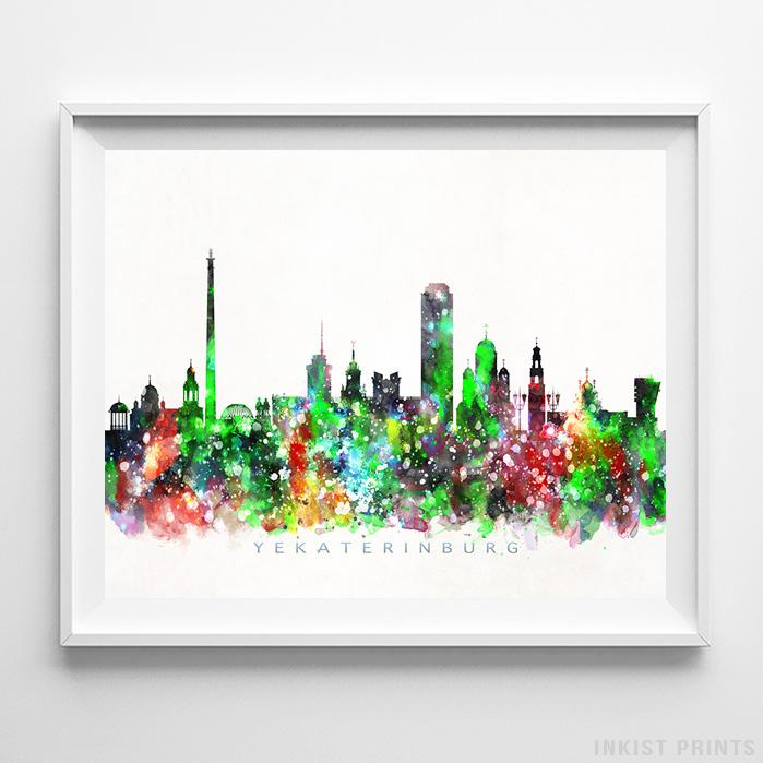 Yekaterinburg, Russia Skyline Watercolor Print - Inkist Prints