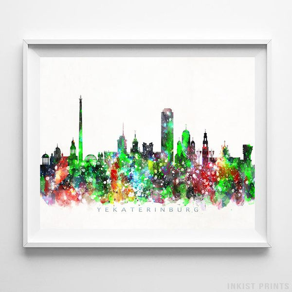 Yekaterinburg, Russia Skyline Watercolor Print-Poster-Wall_Art-Home_Decor-Inkist_Prints