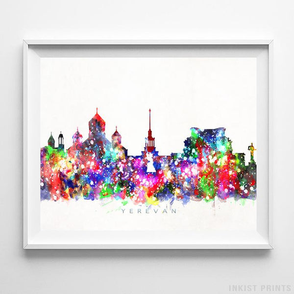 Yerevan, Armenia Skyline Watercolor Print-Poster-Wall_Art-Home_Decor-Inkist_Prints