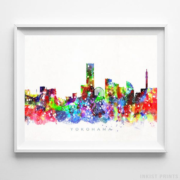Yokohama, Japan Skyline Watercolor Print-Poster-Wall_Art-Home_Decor-Inkist_Prints