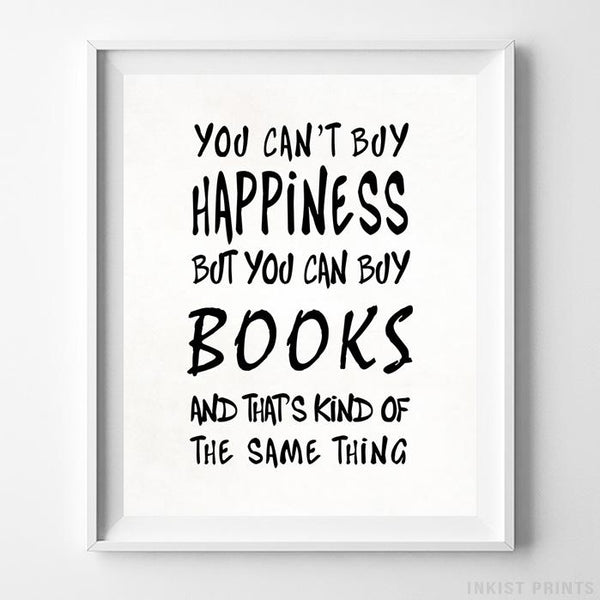 You Can Buy Books Typography Print-Poster-Wall_Art-Home_Decor-Inkist_Prints