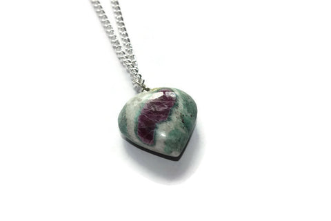 Anyolite heart necklace
