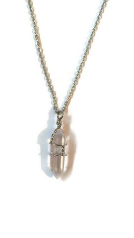 Wrapped Clear Quartz necklace